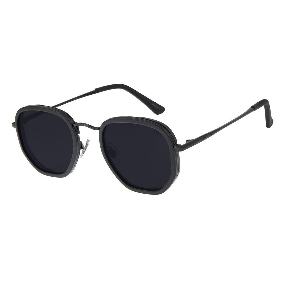 Óculos de Sol Masculino Chilli Beans Hexagonal Metal Preto OC.MT.3077-0101