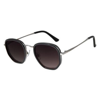 Óculos de Sol Masculino Chilli Beans Hexagonal Metal Degradê OC.MT.3077-2001