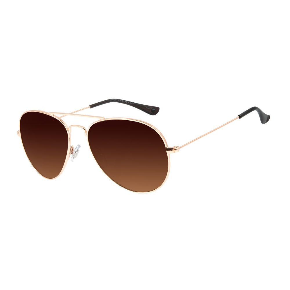 Óculos de Sol Unissex Chilli Beans Essential Aviador Metal Brilho Rosé OC.MT.3078-5795