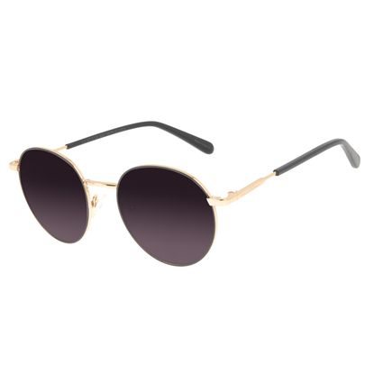 Óculos de Sol Unissex Chilli Beans Banhado A Ouro Dourado OC.MT.3126-2021