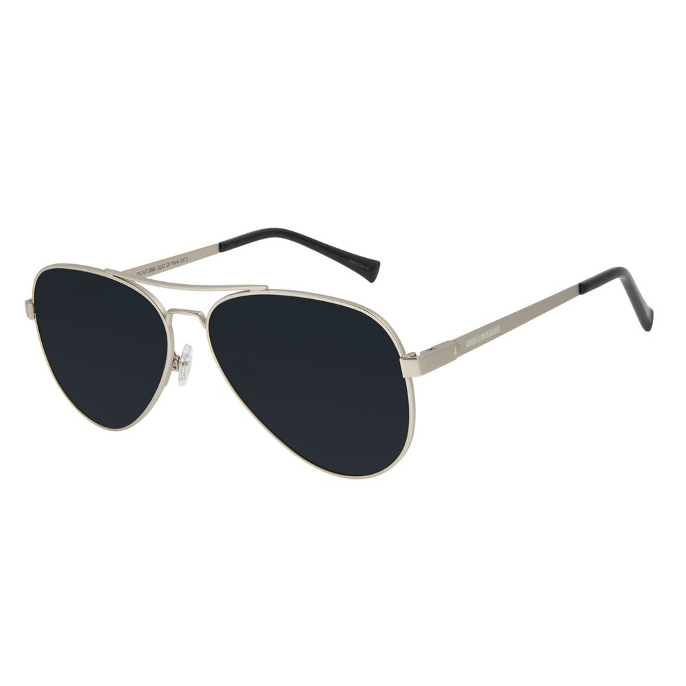 Óculos de Sol Unissex Chilli Beans Essential Aviador Polarizado MT Ônix OC.MT.3133-0222