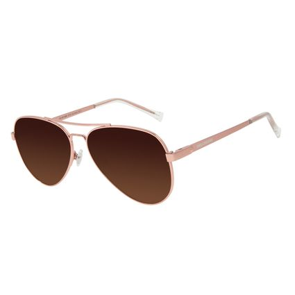 Óculos de Sol Unissex Chilli Beans Essential Aviador Polarizado MT Dourado OC.MT.3133-5721