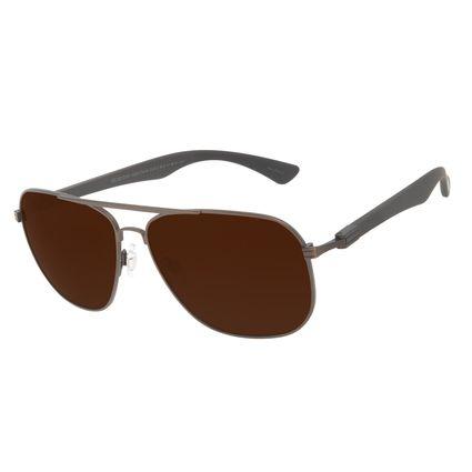 Óculos de Sol Masculino Chilli Beans Executivo Polarizado MT Marrom OC.MT.3141-0202