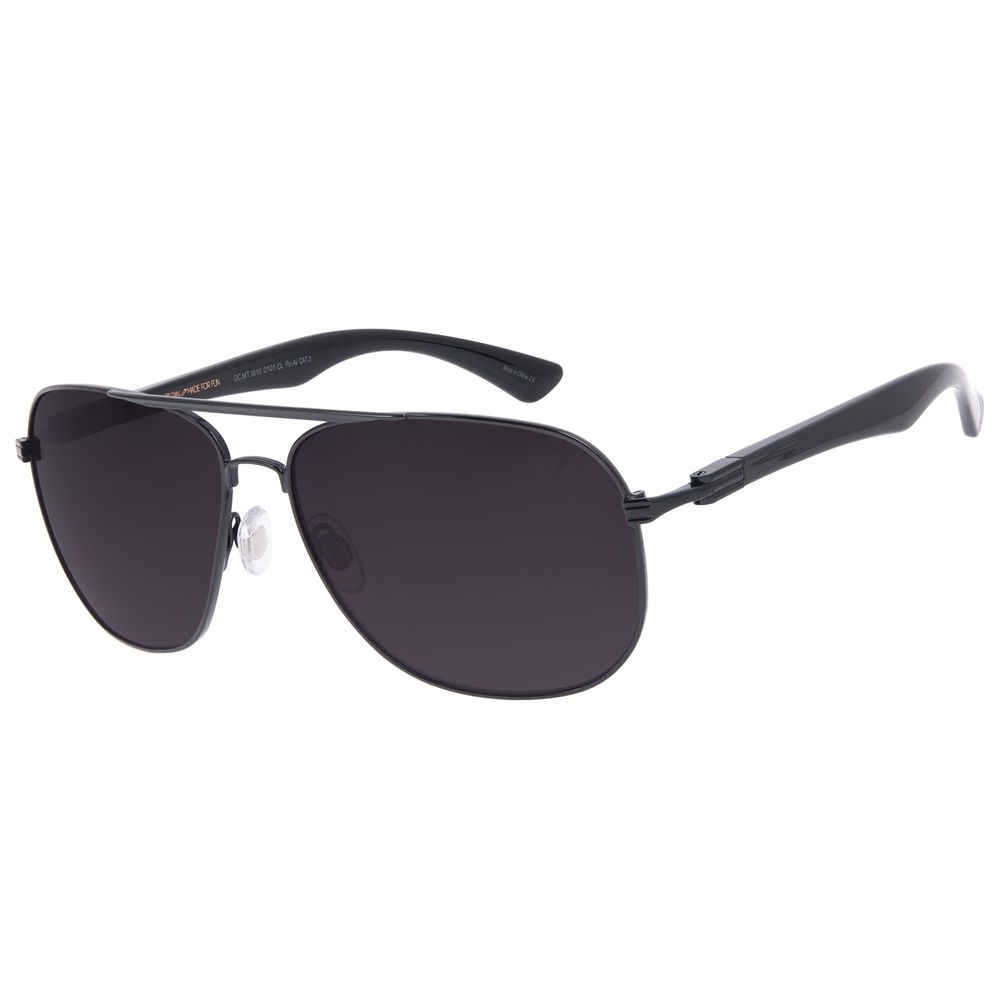 Óculos de Sol Masculino Chilli Beans Executivo Polarizado MT Preto OC.MT.3141-0101