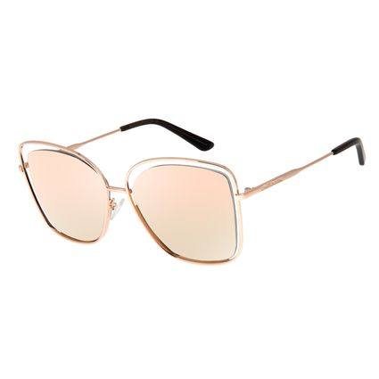 Óculos de Sol Feminino Chilli Beans Quadrado Banhado A Ouro Rosé OC.MT.3143-2095