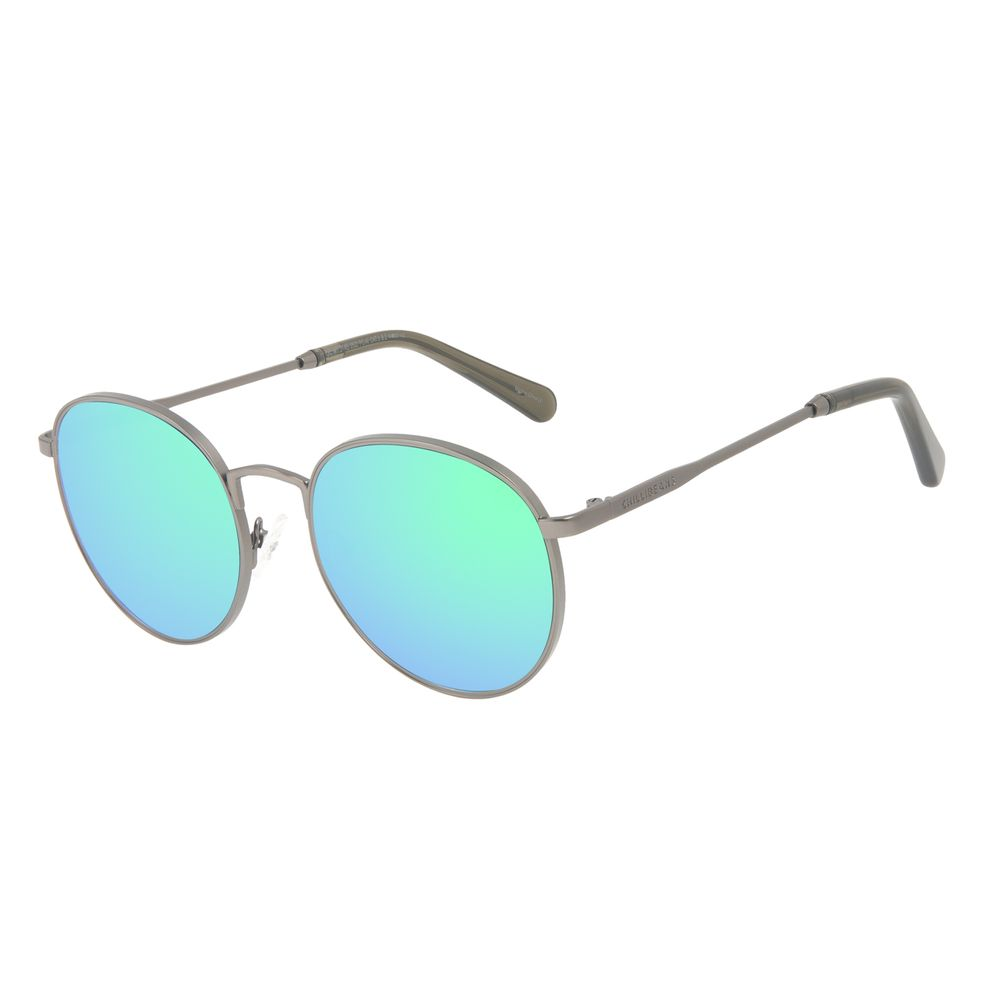 Óculos de Sol Feminino Chilli Beans Redondo MT Fosco Verde Espelhado OC.MT.3145-2522