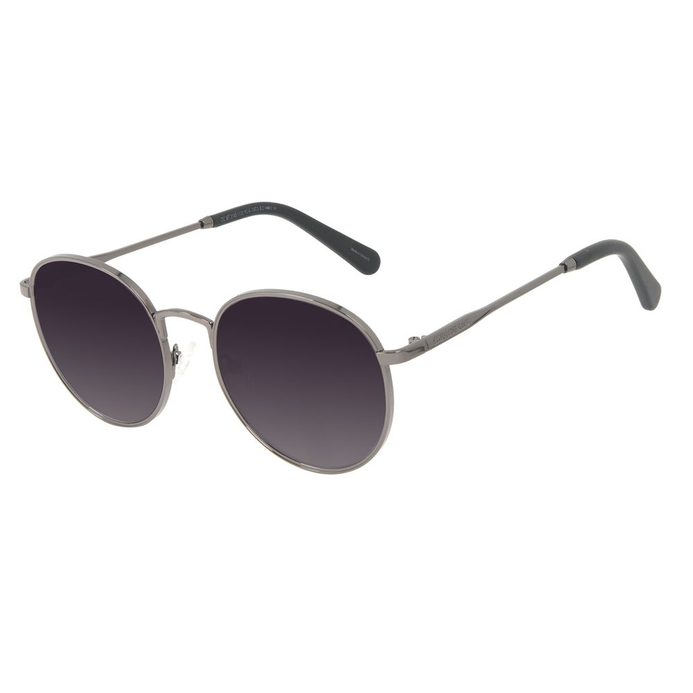 Óculos de Sol Feminino Chilli Beans Redondo MT Fosco Ônix OC.MT.3145-0122