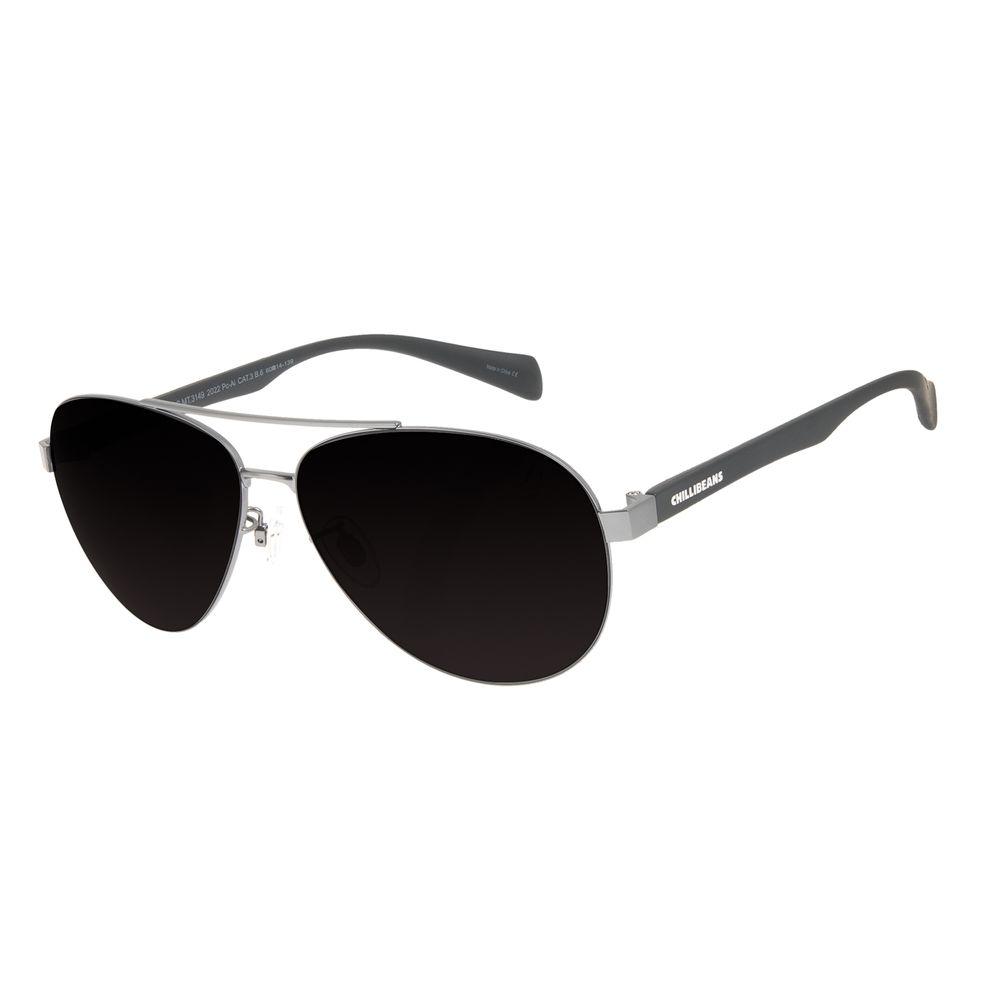 Óculos de Sol Masculino Chilli Beans Aviador Classic MT Ônix OC.MT.3149-2022
