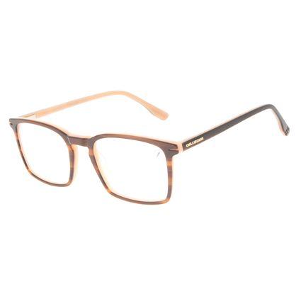 Armação Para Óculos de Grau Masculino Chilli Beans Quadrado Casual AC Marrom LV.AC.0708-0202