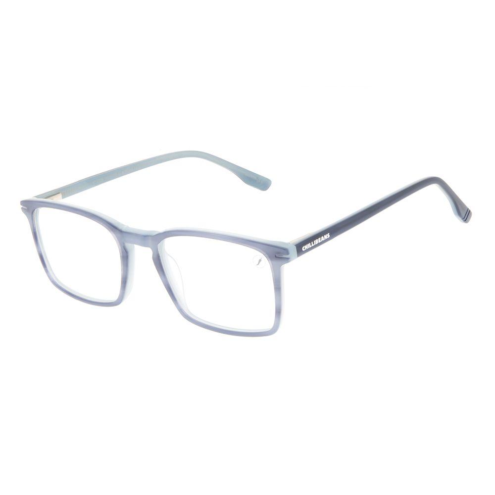 Armação Para Óculos de Grau Masculino Chilli Beans Quadrado Casual AC Azul LV.AC.0708-0808