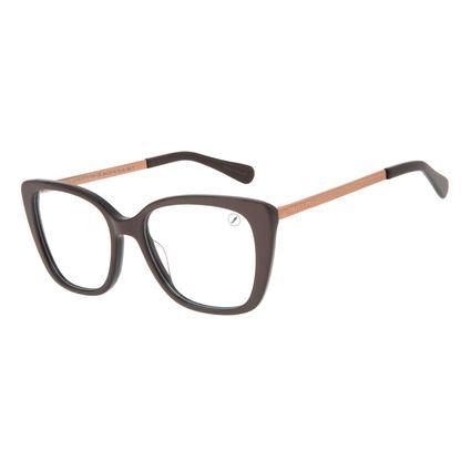 Armação Para Óculos de Grau Feminino Chilli Beans Cat Brilho Ônix LV.AC.0713-0122