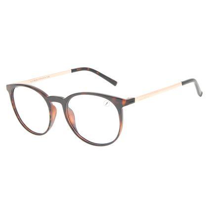Armação Para Óculos de Grau Unissex Chilli Beans Redondo TR90 Tartaruga LV.IJ.0205-0621