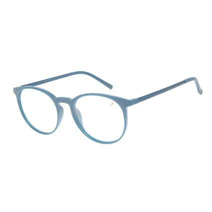Armação Para Óculos de Grau Unissex Chilli Beans Redondo TR90 Azul LV.IJ.0205-0808