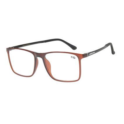 Armação Para Óculos de Grau Masculino Chilli Beans Quadrado Casual Marrom LV.IJ.0214-0202