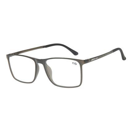 Armação Para Óculos de Grau Masculino Chilli Beans Quadrado Casual Cinza LV.IJ.0214-0404