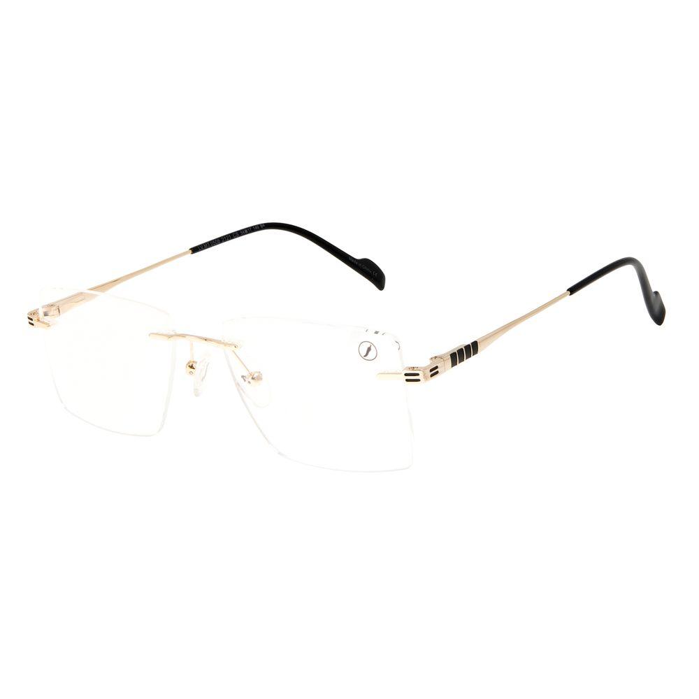 Armação Para Óculos de Grau Feminino Chilli Beans 3 Peças MT Fosco Dourado LV.MT.0506-2121