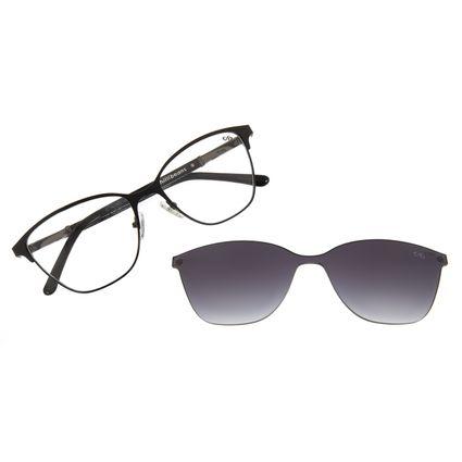 Armação Para Óculos de Grau Feminino Chilli Beans Multi 2 Em 1 Cat Metal Preto LV.MU.0551-2001