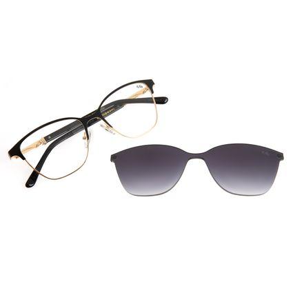 Armação Para Óculos de Grau Feminino Chilli Beans Multi 2 Em 1 Cat Metal Dourado LV.MU.0551-2021