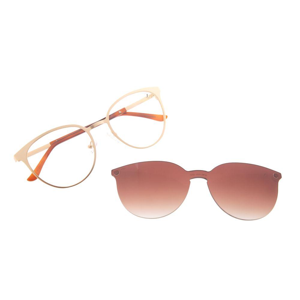 Armação Para Óculos de Grau Feminino Chilli Beans Essential Multi Dourado LV.MU.0553-5721