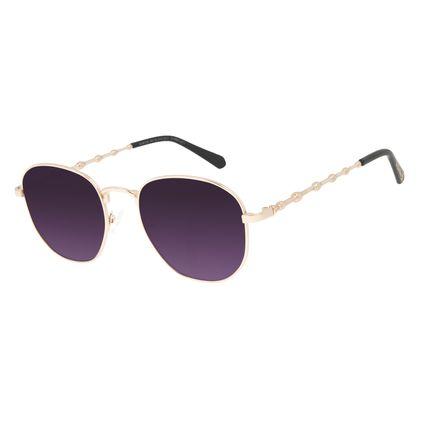 Óculos de Sol Feminino Harry Potter Varinha das Varinhas Redondo Dourado OC.MT.3180-2021