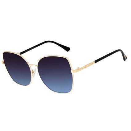 Óculos de Sol Feminino Harry Potter Snape Quadrado Dourado OC.MT.3178-8321