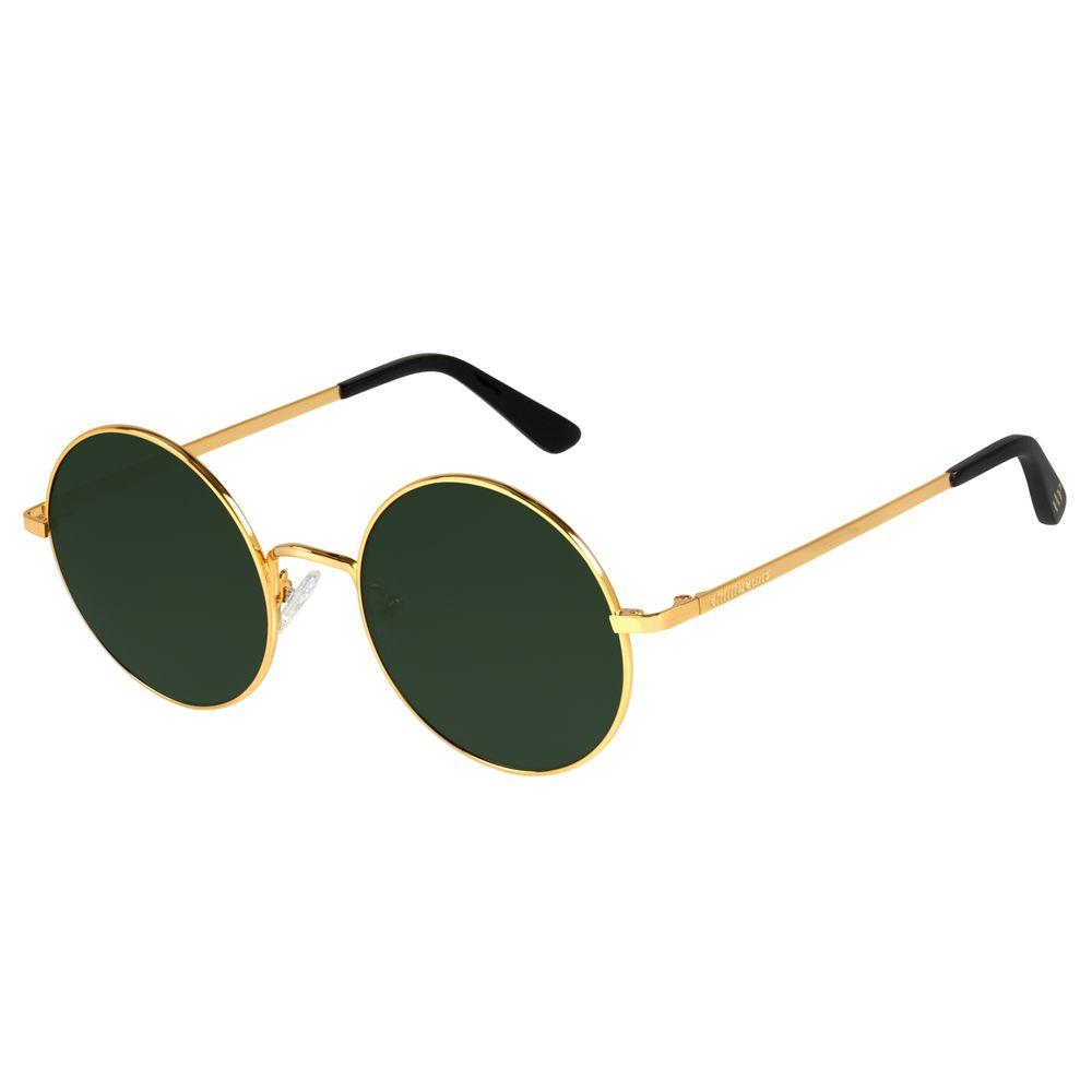 Óculos de Sol Unissex Harry Potter Redondo Verde Banhado a Ouro OC.MT.3167-1521
