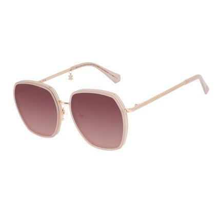 Óculos de Sol Feminino Harry Potter Chocolate Frog Quadrado Rosé   OC.CL.3345-2095