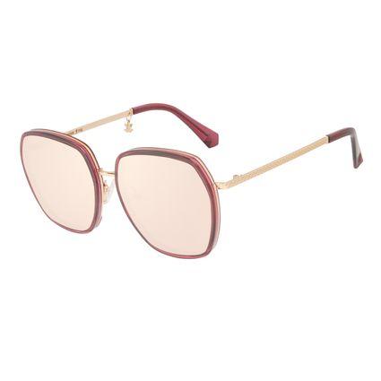 Óculos de Sol Feminino Harry Potter Chocolate Frog Quadrado Dourado OC.CL.3345-2321