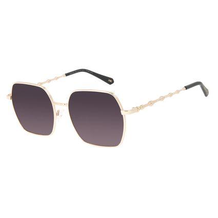 Óculos de Sol Feminino Harry Potter Varinha das Varinhas Quadrado Degradê Banhado a Ouro OC.MT.3144-2021