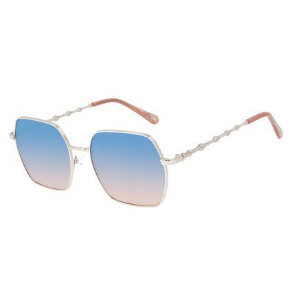 Óculos de Sol Feminino Harry Potter Varinha das Varinhas Quadrado Prata OC.MT.3144-0707