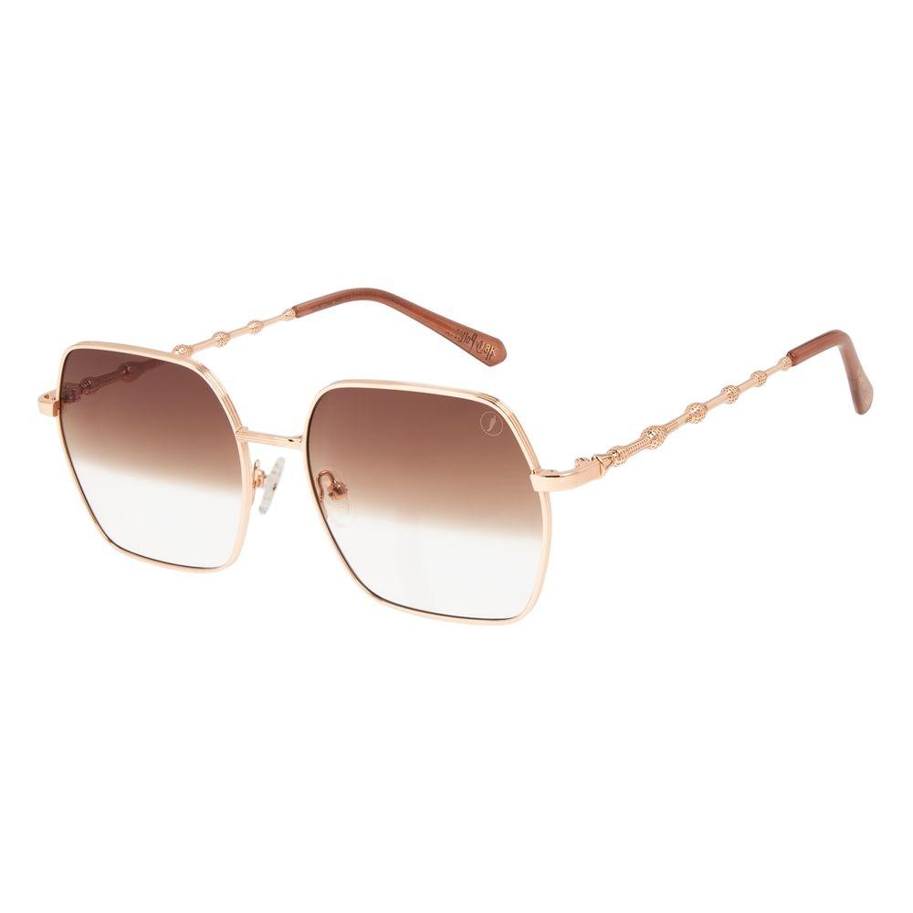 Óculos de Sol Feminino Harry Potter Varinha das Varinhas Quadrado Rosé Banhado a Ouro OC.MT.3144-9595