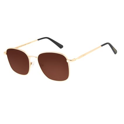 Óculos de Sol Unissex Harry Potter Lord Voldemort Redondo Marrom OC.MT.3196-0222