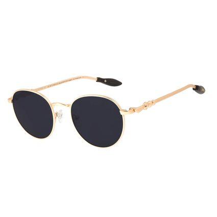 Óculos de Sol Unissex Harry Potter Quadribol Redondo Dourado OC.MT.3195-0121