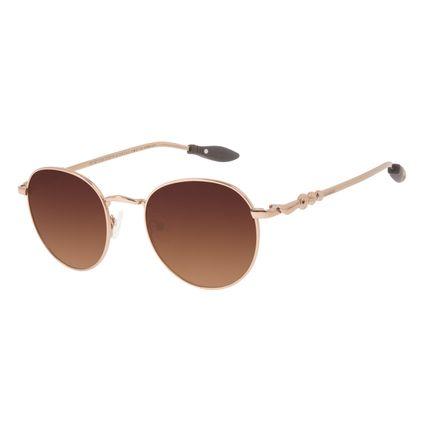 Óculos de Sol Unissex Harry Potter Quadribol Redondo Degradê Marrom OC.MT.3195-5702