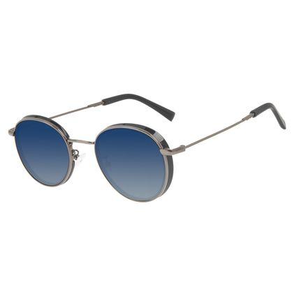 Óculos de Sol Unissex Harry Potter Varinha do Harry Potter Degradê Azul Flap Polarizado OC.MT.3164-8322
