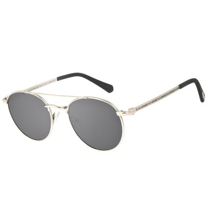 Óculos de Sol Unissex Harry Potter Comensais da Morte Polarizado Prata OC.MT.3163-2007