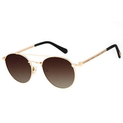 Óculos de Sol Unissex Harry Potter Comensais da Morte Polarizado Dourado OC.MT.3163-5721