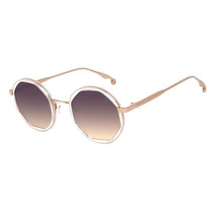 Óculos de Sol Feminino Harry Potter Pomo de Ouro Redondo Transparent Dourado OC.MT.3213-2102