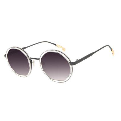 Óculos de Sol Feminino Harry Potter Pomo de Ouro Redondo Transparent Preto OC.MT.3213-0101