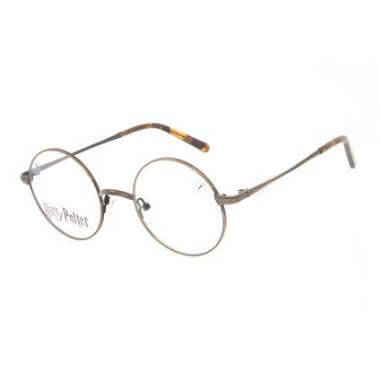 Armação Para Óculos de Grau Unissex Harry Potter Redondo Marrom LV.MT.0565-0221