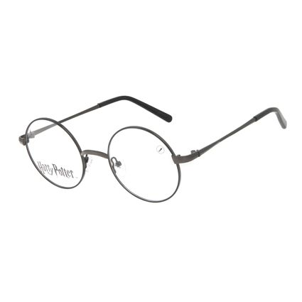 Armação Para Óculos de Grau Unissex Harry Potter Redondo Preto LV.MT.0565-0101