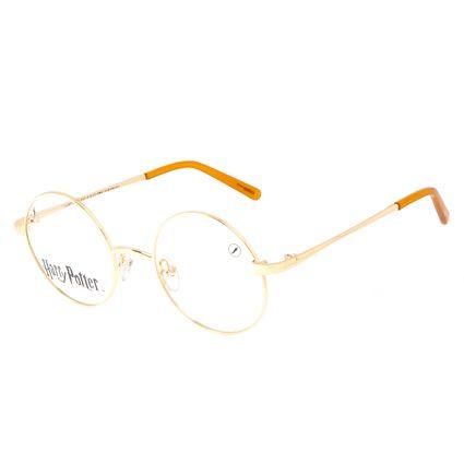 Armação Para Óculos de Grau Unissex Harry Potter Redondo Dourado LV.MT.0565-2121