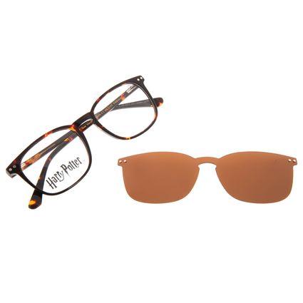 Armação Para Óculos de Grau Masculino Harry Potter Tom Marvolo Riddle Multi Polarizado Marrom LV.MU.0646-0206
