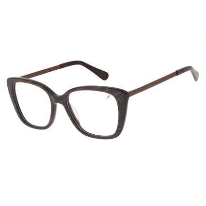 Armação Para Óculos de Grau Feminino Chilli Beans Cat Brilho Marrom LV.AC.0713-0202