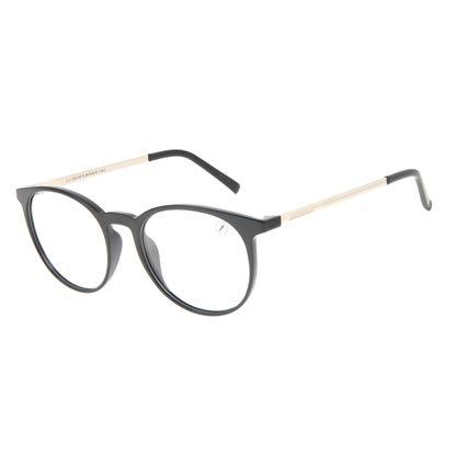 Armação Para Óculos de Grau Unissex Chilli Beans Redondo TR90 Prata LV.IJ.0205-0107