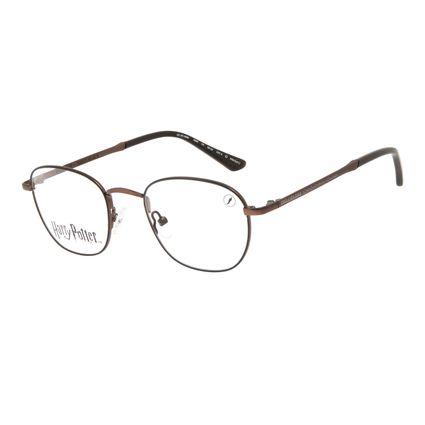 Armação Para Óculos de Grau Unissex Harry Potter Sirius Black Redondo Marrom LV.MT.0567-0202