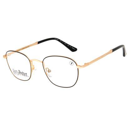 Armação Para Óculos de Grau Unissex Harry Potter Sirius Black Redondo Dourado LV.MT.0567-2121