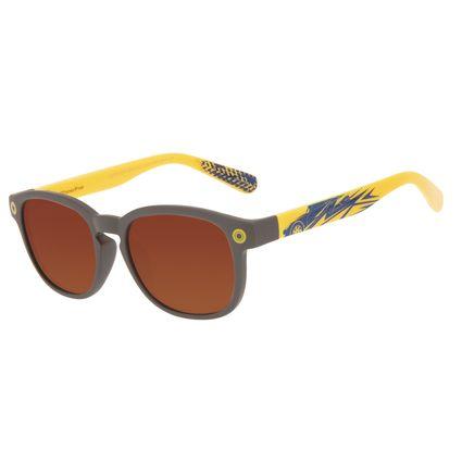 Óculos de Sol Infantil Disney Cars Redondo Cinza OC.KD.0710-0204