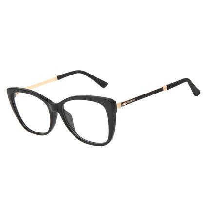 Armação Para Óculos de Grau Feminino Chilli Beans Cat Cristal Preto LV.IJ.0233-0101