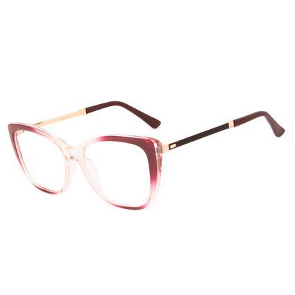 Armação Para Óculos de Grau Feminino Chilli Beans Cat Cristal Vermelho LV.IJ.0233-1616